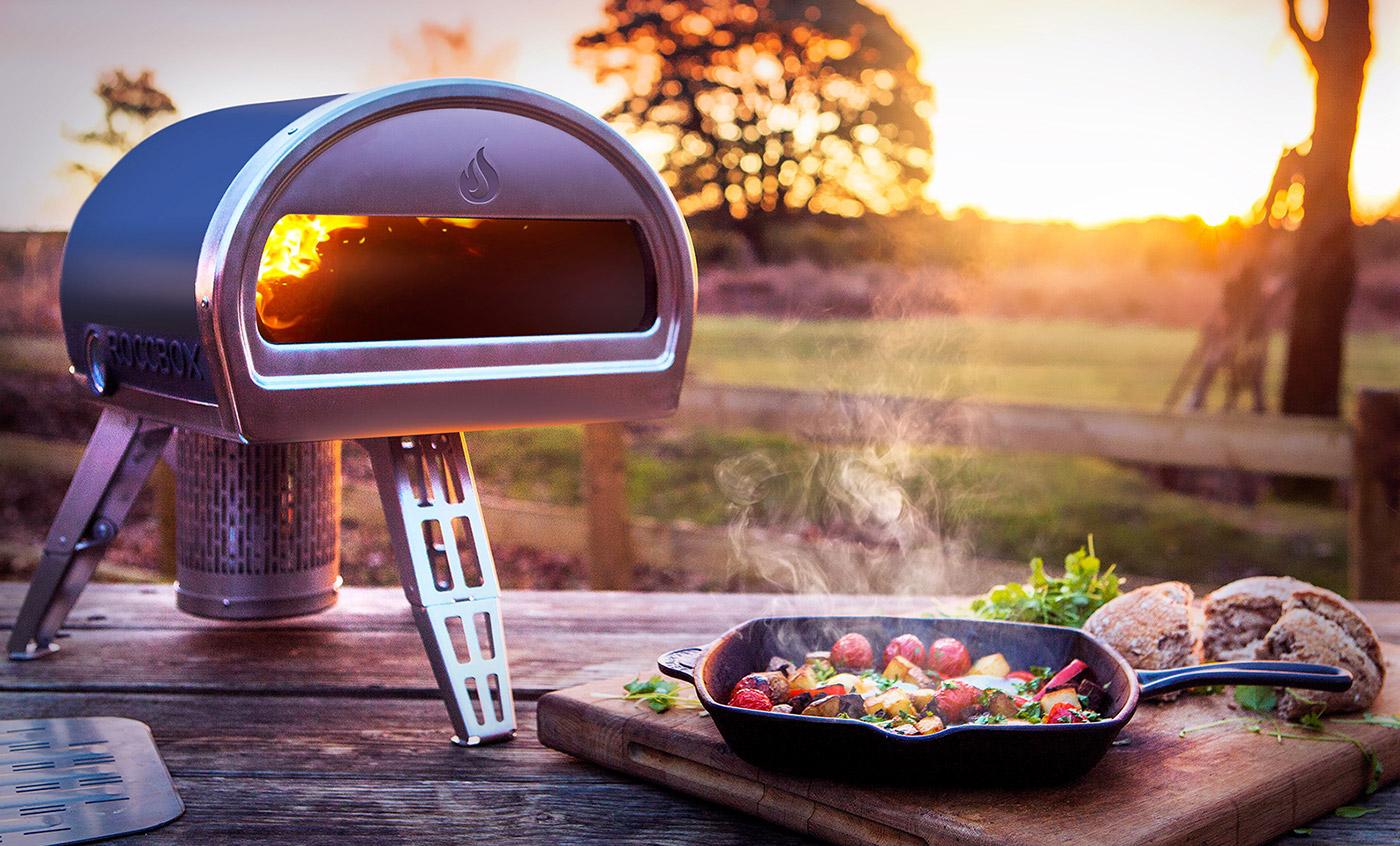Roccbox che la pietra portatile cuoce il forno può cucinare la pizza nei minuti
