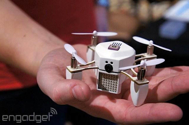 Zano's mini drone at CES