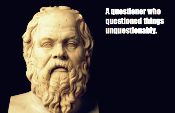 one-line summaries famous historical figures, socrates
