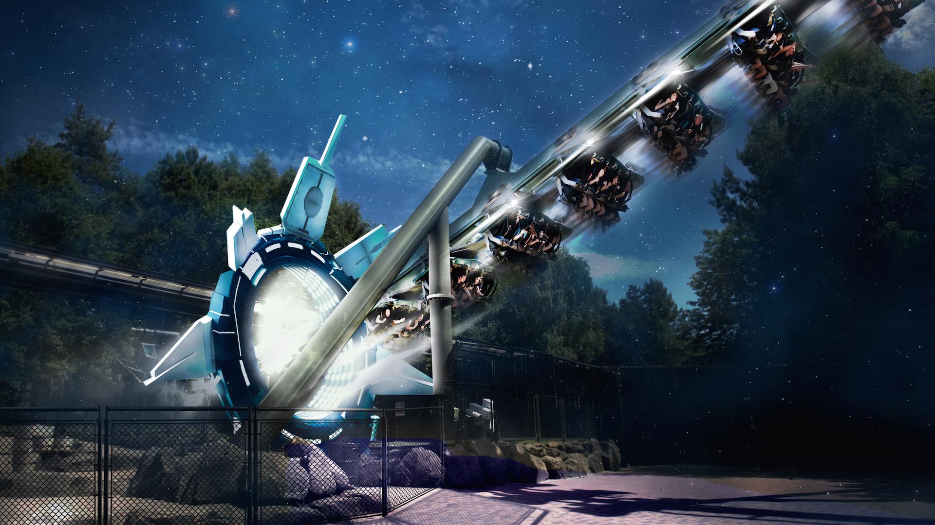 """Alton si eleva per aprire le montagne russe di VR """"di Galactica"""" ad aprile"""