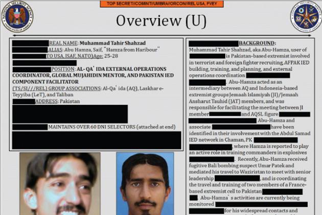 The NSA's data on Abu Hamza