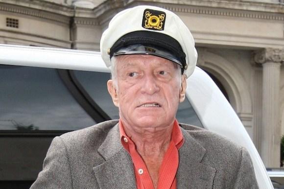 Hugh hefner captain hat, hugh hefner sad