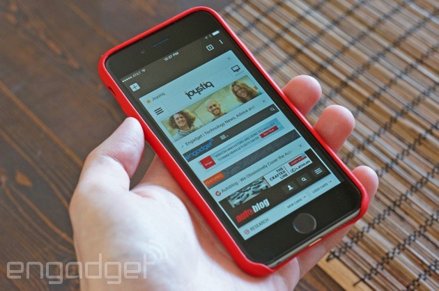 Chrome 40 on an iPhone 6
