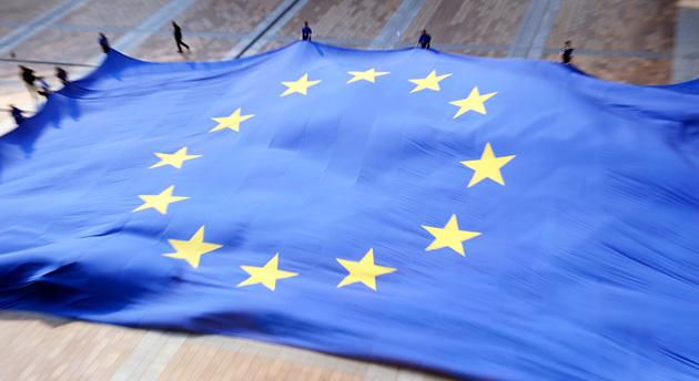 Giant European Union flag