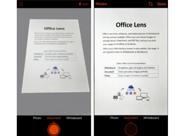 office lens iphone Microsoft Office Lens finalmente disponível oficialmente para Android image