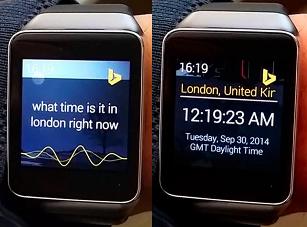 Microsoft Torque on a Samsung Gear Live