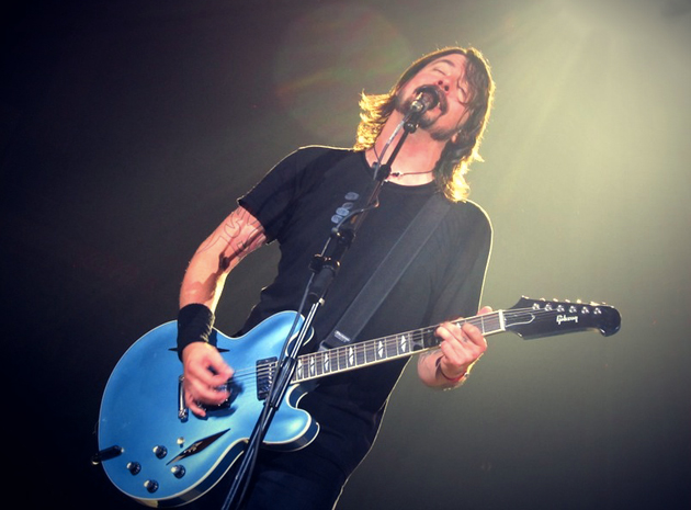 Foo Fighters' Dave Grohl in concert