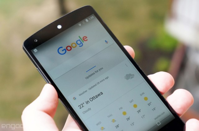 Google Now on a Nexus 5