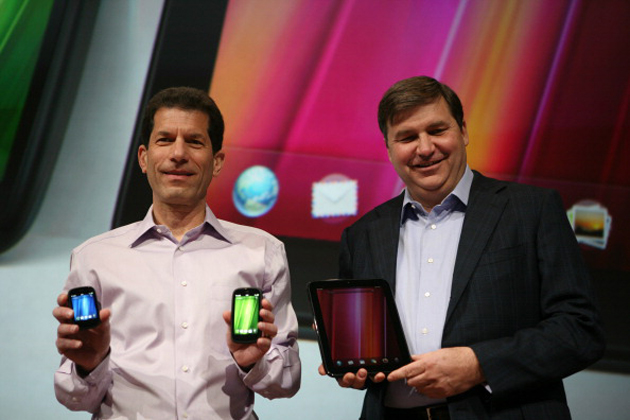 HP's Jon Rubinstein and Todd Bradley unveil the Pre 3, Veer and TouchPad