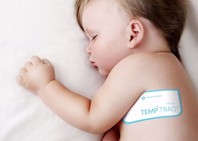 TempTraq thermometer lets a baby sleep
