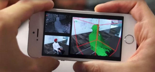 Microsoft's MobileFusion 3D scanning