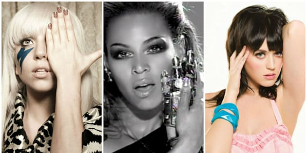 Gaga, Beyoncé e Katy Perry brilharam nas paradas de sucesso em 2008.