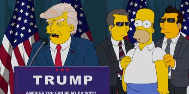 Una de las apariciones del presidenta de EEUU, Donald Trump, en 'Los Simpsons'.