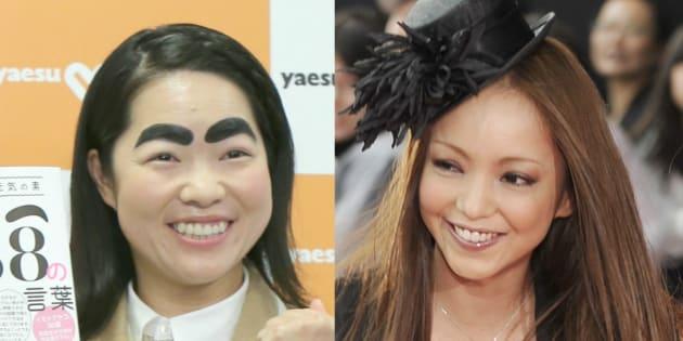 イモトアヤコさん(左)と安室奈美恵さん