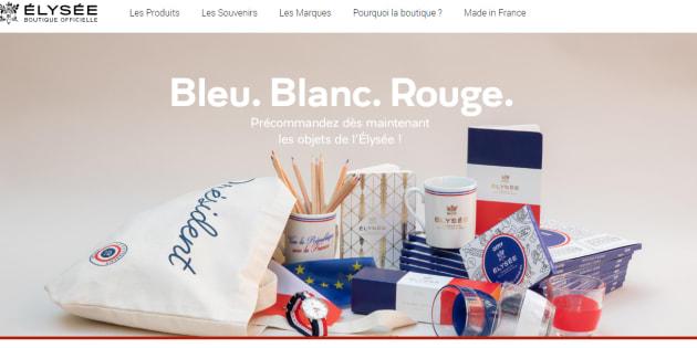 Boutique de l'Elysée: découvrez les premiers produits en vente.