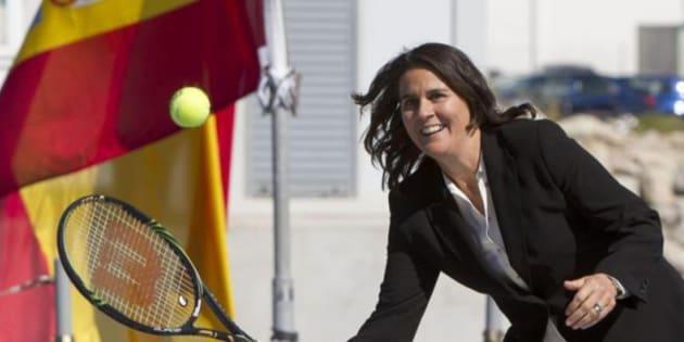 Imagen de fichero de la tenista Conchita Martínez.