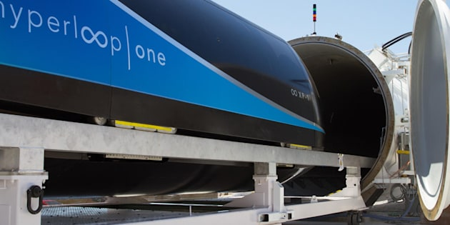 A hyperloop prototype belonging to Los Angeles-based Hyperloop One, which has identified the Toronto-Montreal corridor as a top candidate for a hyperloop transportation system.