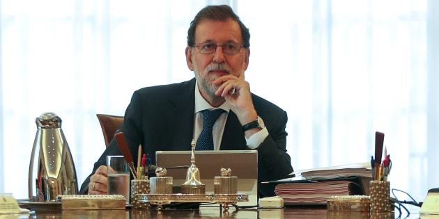 Mariano Rajoy, durante el Consejo de Ministros excepcional sobre el dilema catalán del pasado siete de septiembre.