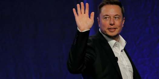 Tesla Motors CEO Elon Musk waves as he leaves the stage after speaking at the National Governors Association Summer Meeting in Providence, R.I., July 15, 2017. The verifiedFacebookpages of Elon Musk's rocket company SpaceX and electric carmaker Tesla Inc disappeared on Friday, minutes after the Silicon Valley billionaire promised on Twitter to take down the pages when challenged by users.