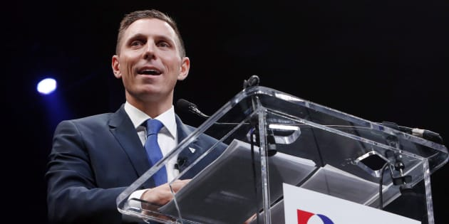 Patrick Brown delivers a speech at the Ontario Progressive Conservative convention in Ottawa on March 5, 2016.