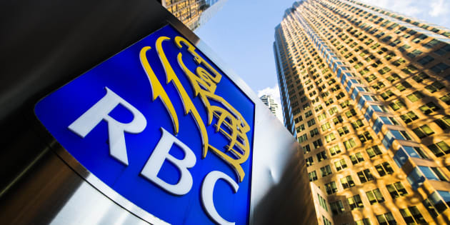 The logo of the Royal Bank of Canada on Bay Street in the heart of the financial district in Toronto, January 22, 2015. RBC is the best place to work in Canada, according to a survey from job search indexing site Indeed.com.