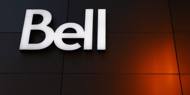 The Bell logo on the company's building in downtown Montreal, February 9, 2011. Bell is appealing a CRTC decision that bans substituting U.S. commercials for Canadian ones during the Super Bowl.