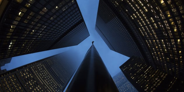 The headquarters of several of Canada's largest banks in Toronto's financial district, Jan. 28, 2013. A prominent policy watchdog group is calling on Canada to toughen banking oversight, saying the banks' record profits this year are a sign it's time to stop