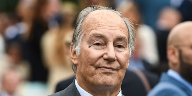 Karim Aga Khan IV attends Qatar Prix de l'Arc de Triomphe at Hippodrome of Chantilly, north of Paris, France, on Oct. 1, 2017.