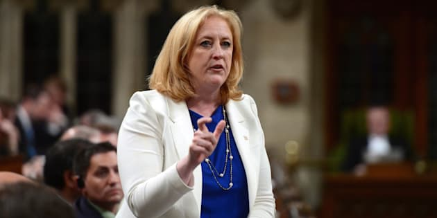 Conservative MP Lisa Raitt stands during question period in the House of Commons on June 8, 2017.