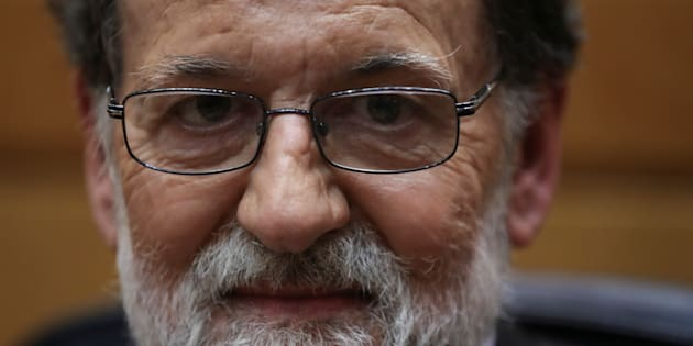 Spain's Prime Minister Mariano Rajoy reacts during a discute at the upper house Senate in Madrid, Spain, October 27, 2017. REUTERS/Susana Vera
