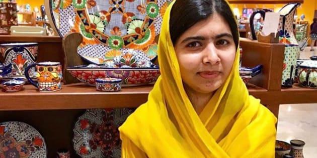 Malala Yousafzai, fotografiada en su reciente visita a México, en una imagen de su narra de Instagram.