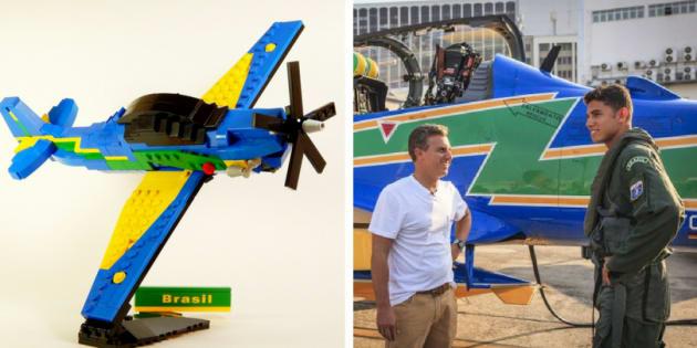 Apresentador de televisão Luciano Huck apoia construção de brinquedo da Lego chamado Super Tucano.