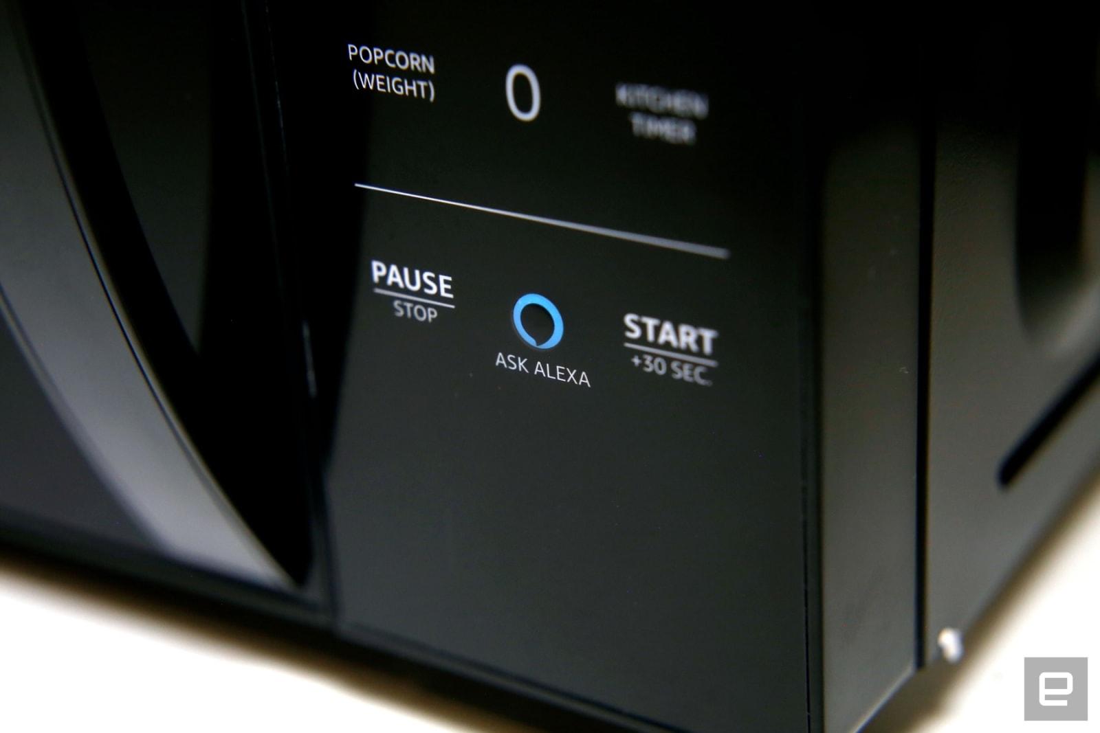 amazon s alexa powered microwave is