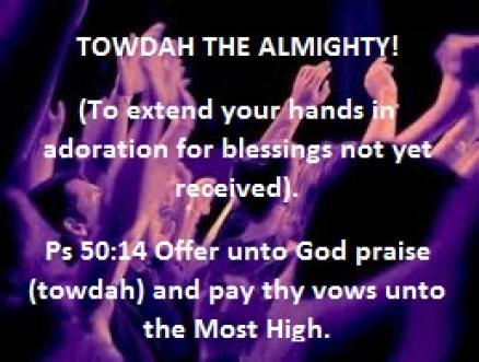 """7 Hebrew Words for Praise: """"Towdah"""" – Pastor B's Blog"""
