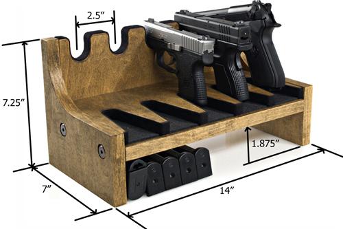 5 gun pistol rack w magazine storage