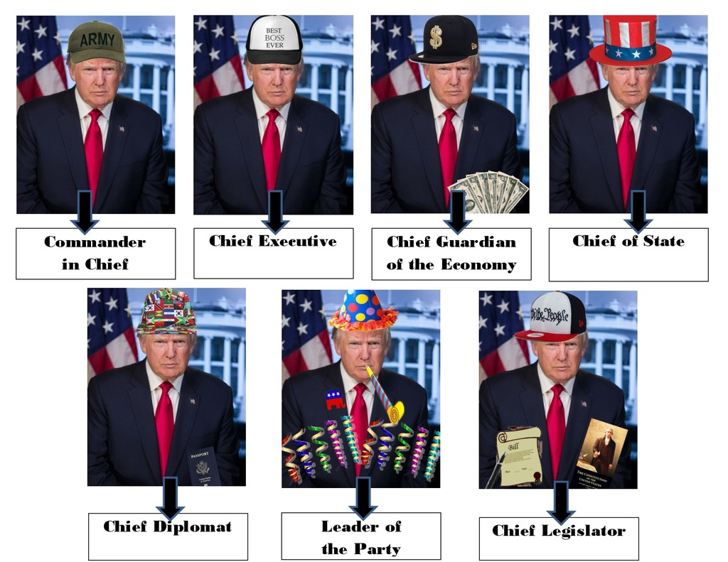 7 Roles Of The President Diagram Quizlet