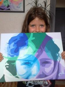 enfant et toile signée O²