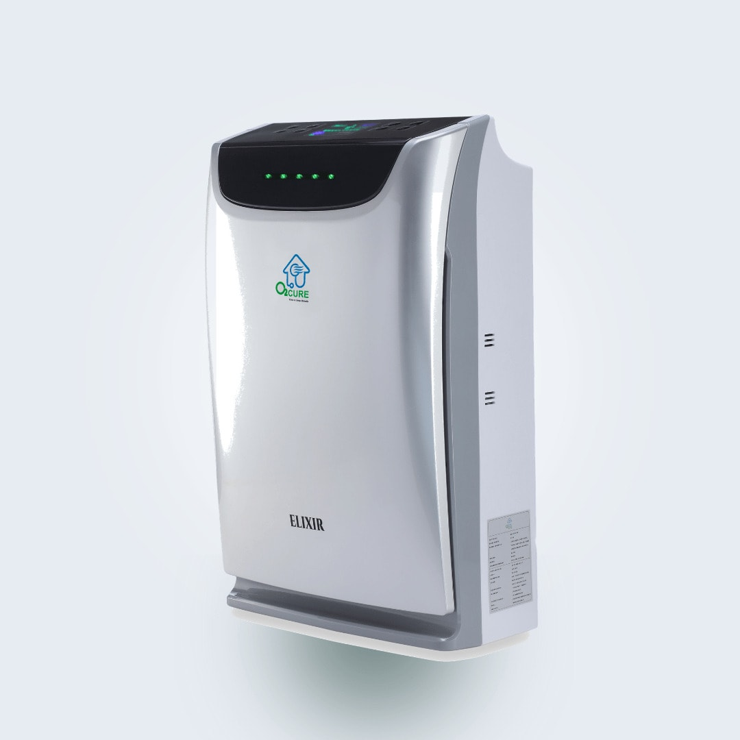 O2 Cure Elixir Air Purifier with Odor Sensing System & Humidifier