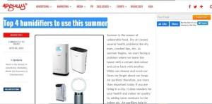 adgully - o2cure air purifier