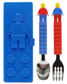 ◤韓國製造Oxford Lego湯叉餐具套裝 兒童餐具◢