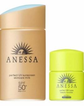 Shiseido資生堂Anessa Essence UV Aqua Booster金色防曬套裝 SPF50 PA++++ (乳液60ml + 面部BB霜7.5ml)
