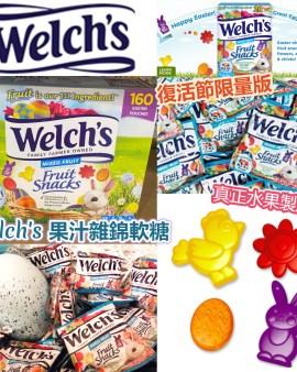 【🇺🇸美國進口 復活節限量版 Welch's 果汁雜錦軟糖(160包/盒)】