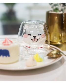 """【🇯🇵日本 超可愛""""柴犬""""雙層玻璃杯☕】"""