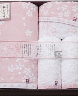 【桜おり布 粉紅色櫻花毛巾(4條入)】