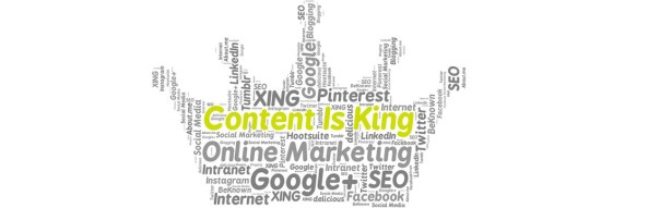 Content Is King in a word play image in the shape of a crown to signify a King from O2 REAL℠