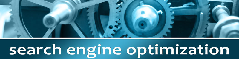 Search Engine Optimization clearly visible with working gears in the background from O2 REAL℠