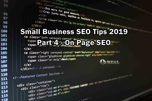 Small Business SEO Tips 2019 - Part 4 - On Page SEO