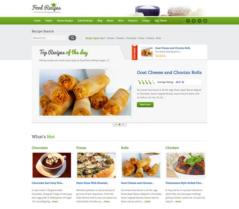 11 best food and recipes wordpress themes o2 reviews food recipes wordpress theme forumfinder Image collections