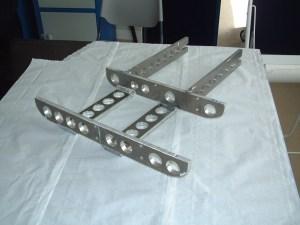 Subchasis de Aluminio recién soldado