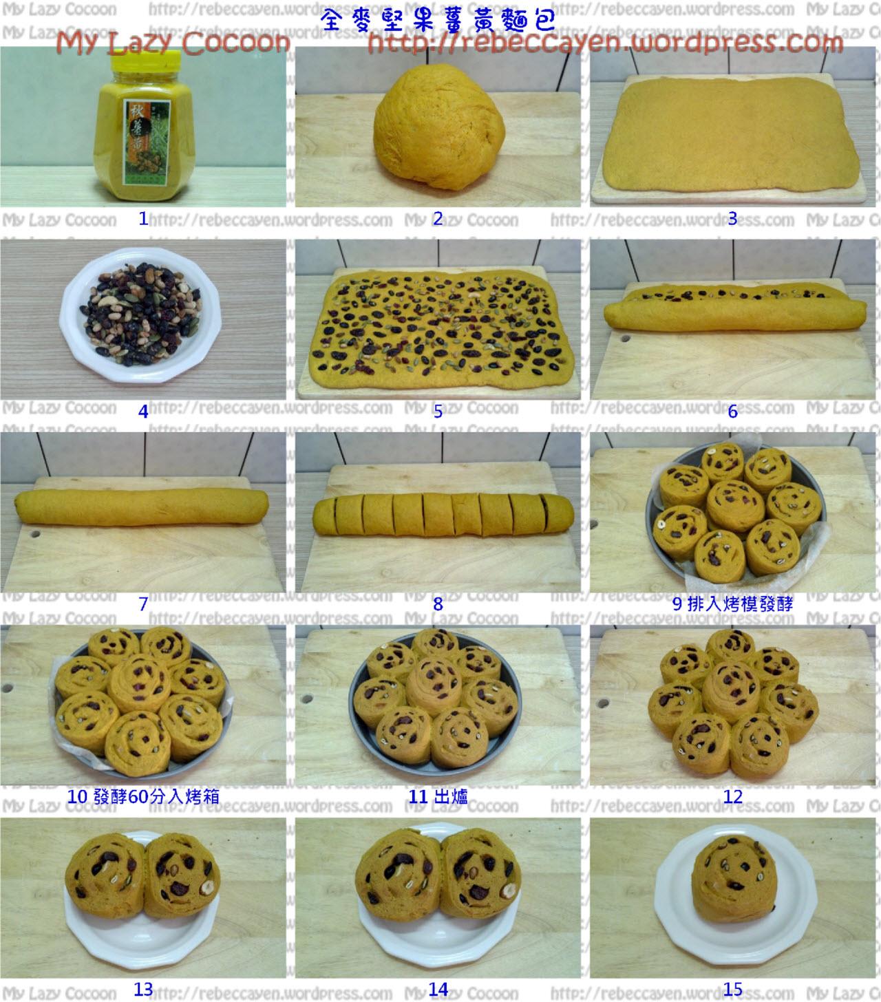 全麥無油堅果薑黃麵包